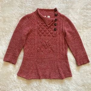 Moth Anthropologie Innovation Sweater Red Wool S